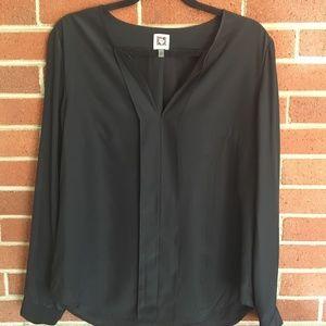 Anne Klein 100% Silk Blouse Size 10